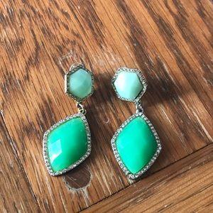 Mint green earrings